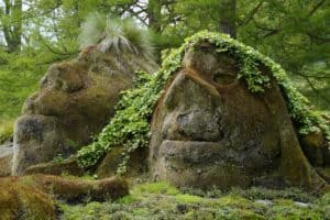 Large Rocks with faces and moss